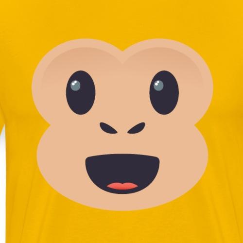 Singe émoticône - T-shirt Premium Homme