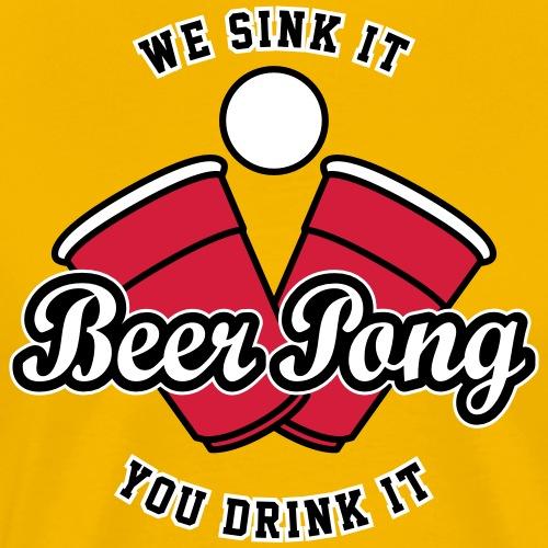 Beer Pong Logo IV - Männer Premium T-Shirt