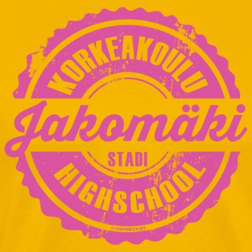 77P-JAKOMÄEN KORKEAKOULU - Stadi, Helsinki - Miesten premium t-paita