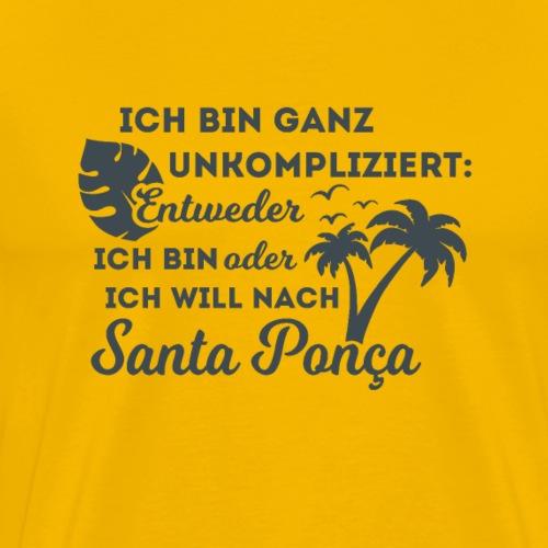 Santa Ponça auf Mallorca - TOP Urlaubsort - Malle - Männer Premium T-Shirt