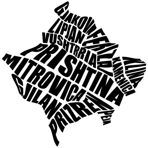 Kosovo Land mit allen Städten - Männer Premium T-Shirt