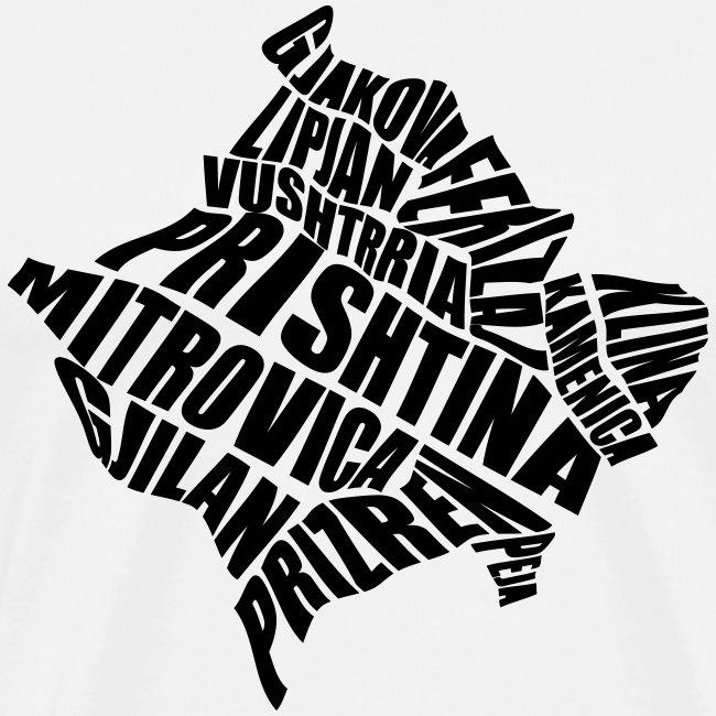 Kosovo Land mit allen Städten