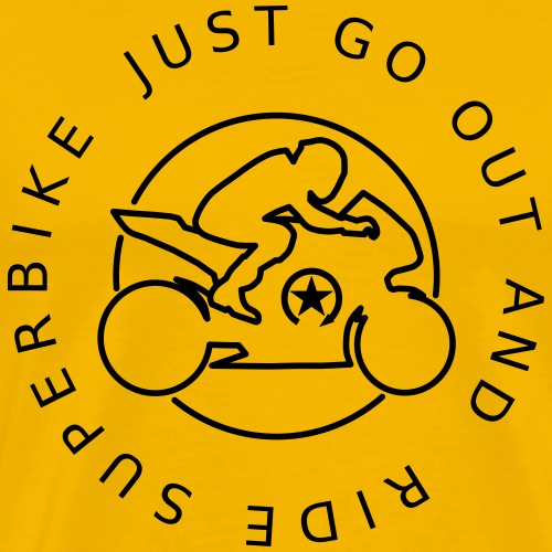 just go out and ride superbike 0GO04 - Men's Premium T-Shirt