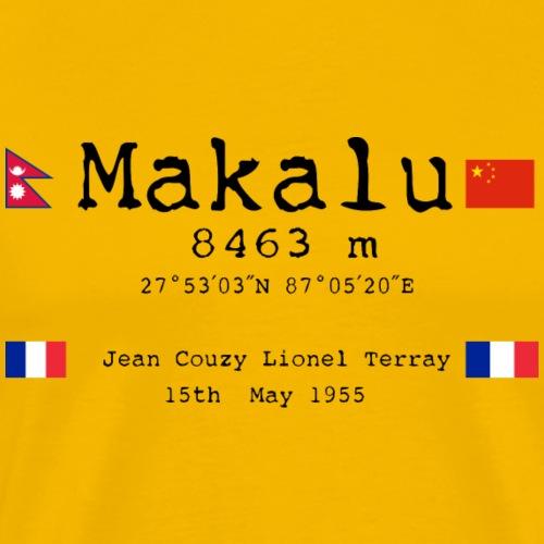 Makalublack - Maglietta Premium da uomo