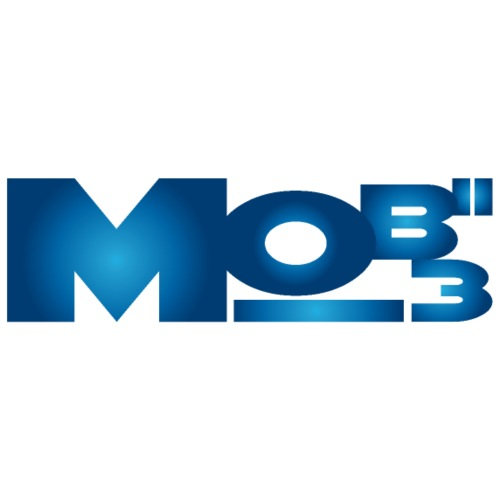 Mobii_3 Logo blau - Männer Premium T-Shirt