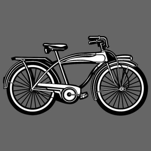 Beach Cruiser Fahrrad 01_schwarz weiß - Männer Premium T-Shirt