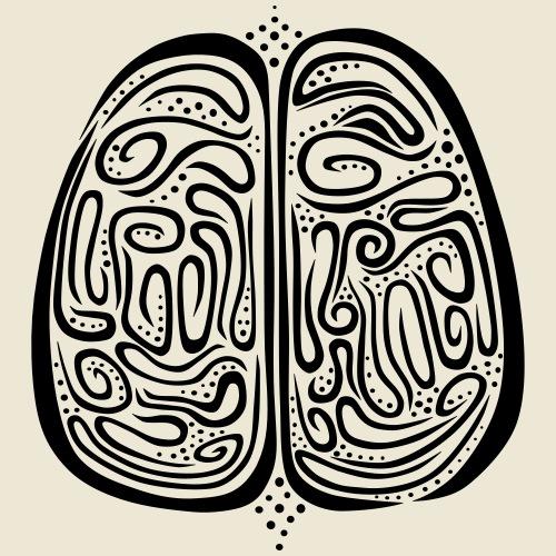 Brain - Herre premium T-shirt