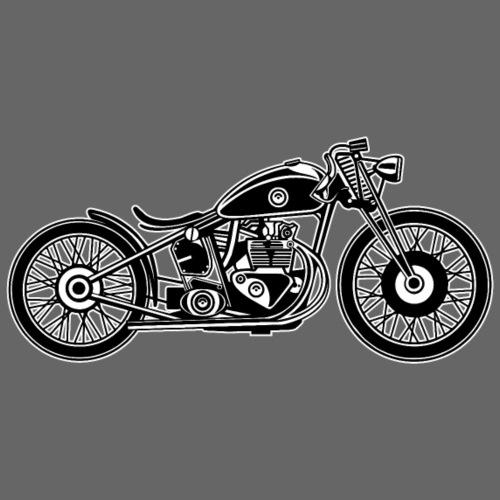 Chopper / Bobber Motorrad 09_schwarz weiß - Männer Premium T-Shirt