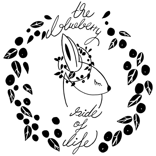The blueberry side of life bunny - Männer Premium T-Shirt