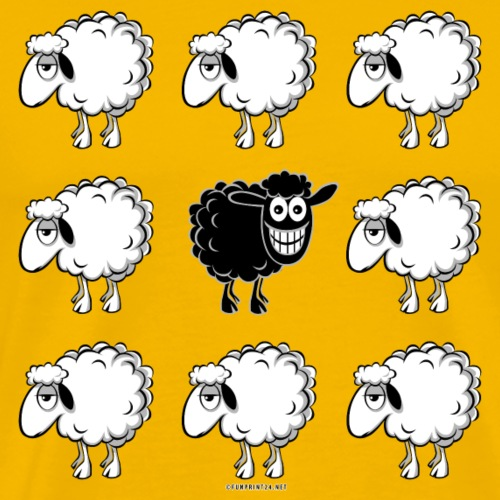 BLACK SHEEP - musta lammas lahjatuotteet 10-45 - Miesten premium t-paita