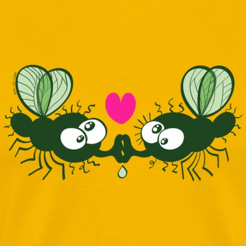 Flies Kissing and Falling in Love - Men's Premium T-Shirt