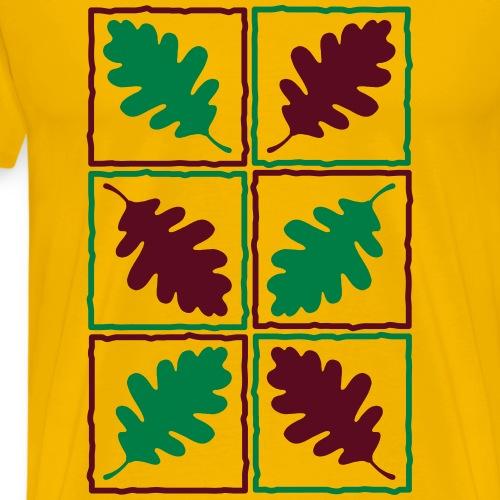 Eichenlaub Herbst Blätter Eichel Nüsse Nuts Leaf - Men's Premium T-Shirt