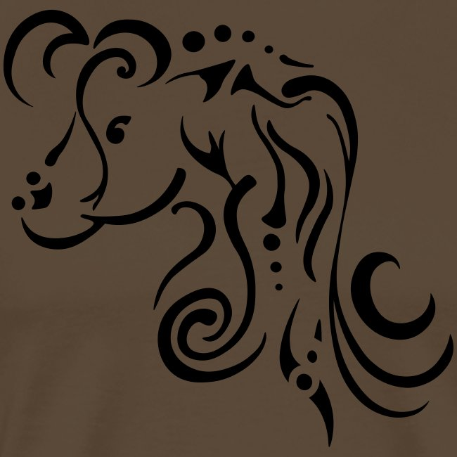 Mare, clean tribal design