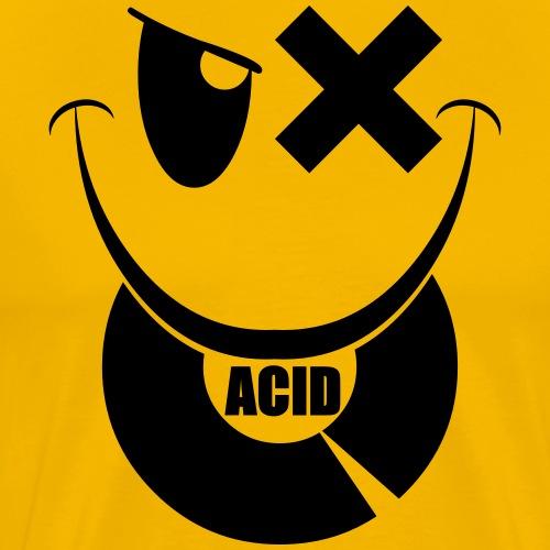smiley acid techno vinyl - Men's Premium T-Shirt