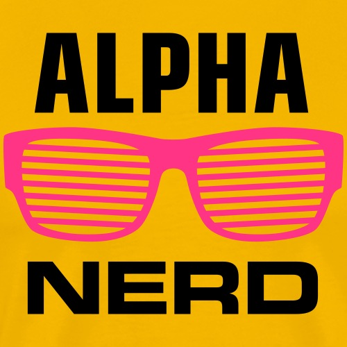 Alphanerd Sonnenbrille Geek Big Bang be cool - Men's Premium T-Shirt
