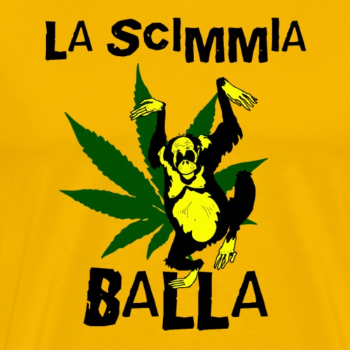 La Scimmia Balla - The Monkey Dances - Maglietta Premium da uomo