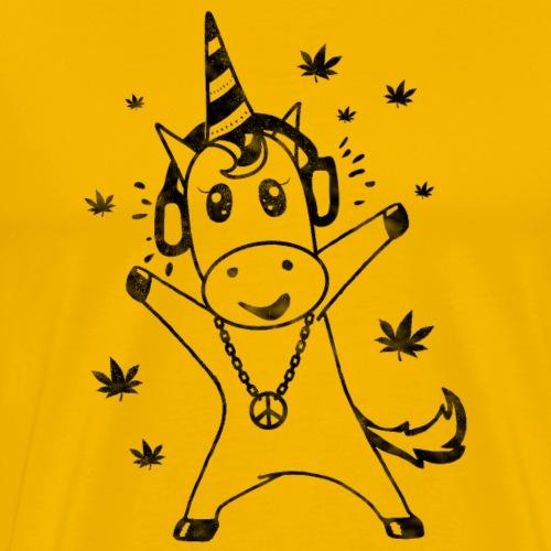 Reggae Unicorn - Männer Premium T-Shirt