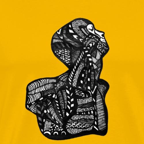 Körper, Anatomie, Zentangle - Männer Premium T-Shirt