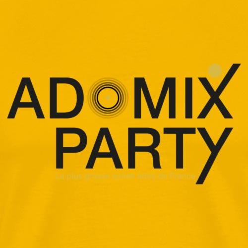 1 LOGO ADOMIXPARTY NOIR TRANS PROTO1 V1 ai copie - T-shirt Premium Homme
