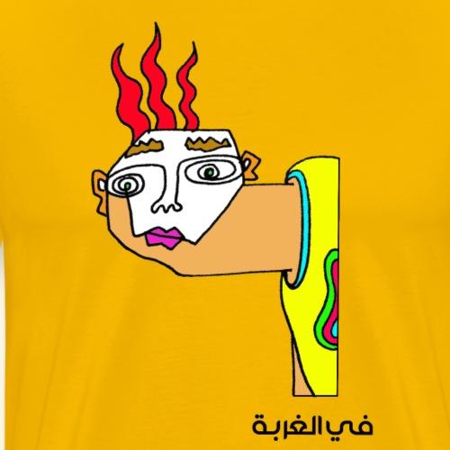 In exile-Arabic - Premium T-skjorte for menn