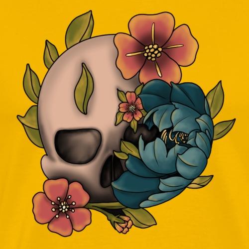 Craneo Flores - Camiseta premium hombre
