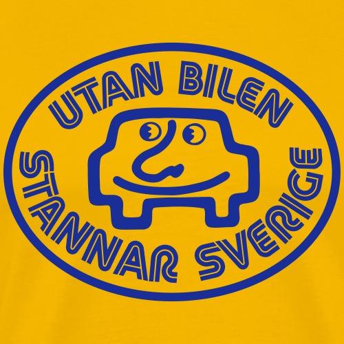 Utan bilen stannar Sverige blå - Premium-T-shirt herr