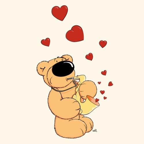 chris bears Der Bär spielt Saxophon - Männer Premium T-Shirt