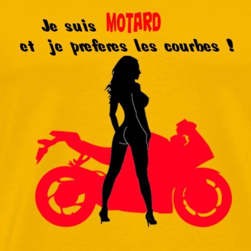 courbe - T-shirt Premium Homme