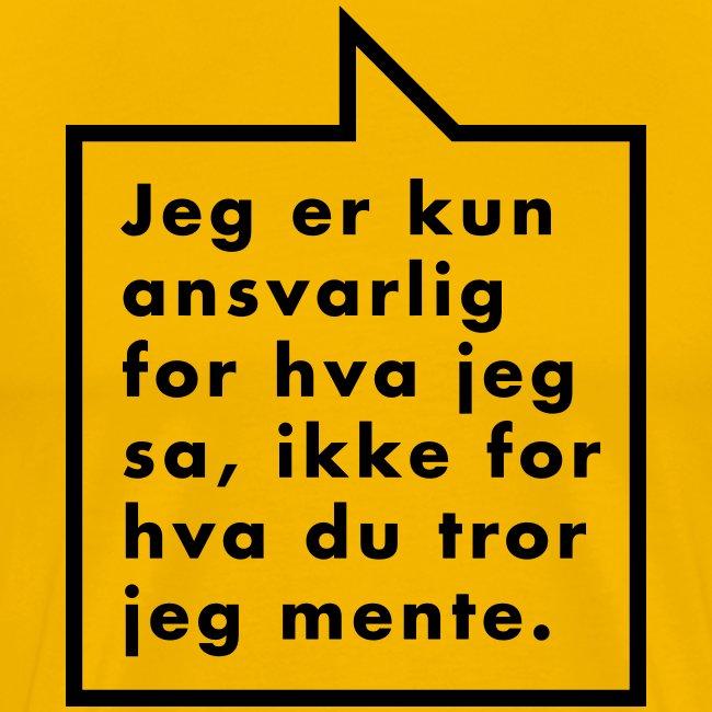 Ikke ansvarlig (fra Det norske plagg)