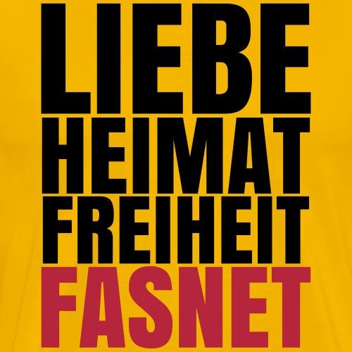 LIEBE HEIMAT FASNET - Männer Premium T-Shirt
