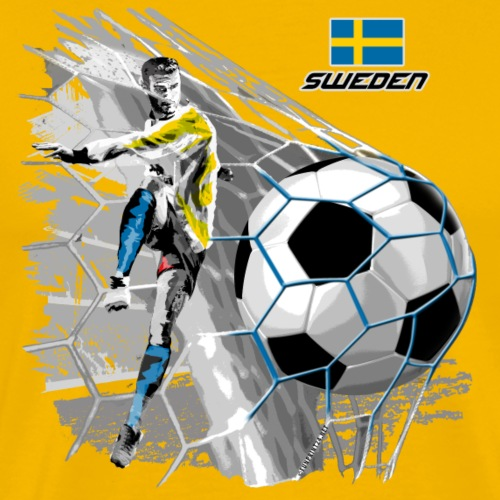SWEDEN FOOTBALL SOCCER PLAY T SHIRTS, GIFTS etc. - Miesten premium t-paita