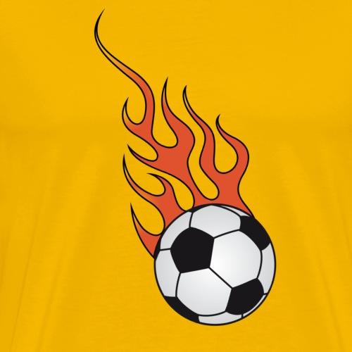 football soccer flaming - Men's Premium T-Shirt