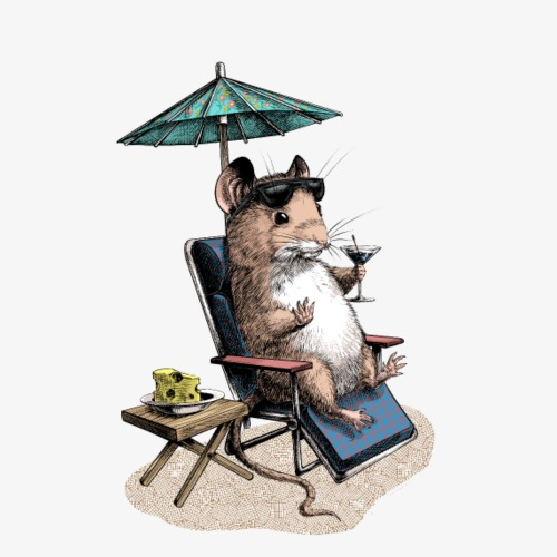 Mouse Cocktail Umbrella - Men's Premium T-Shirt