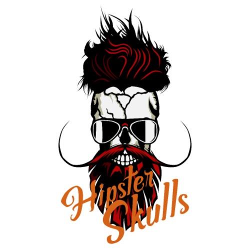 tete de mort hipster skull logo crane barbu barbe - T-shirt Premium Homme