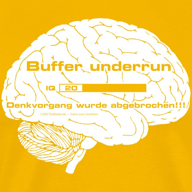 Buffer underrun - Denkvorgang abgebrochen