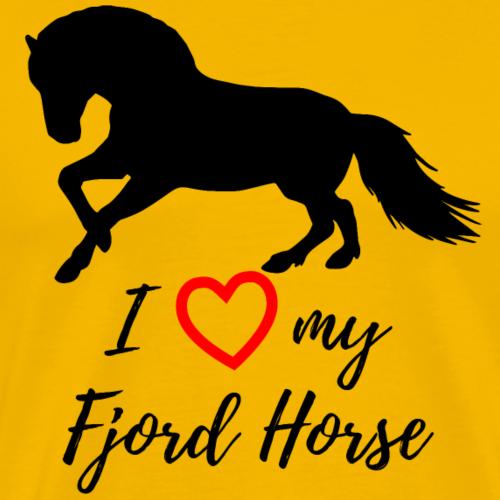 Fjordpferd Norweger Ich liebe Pony Pferd Geschenk - Männer Premium T-Shirt