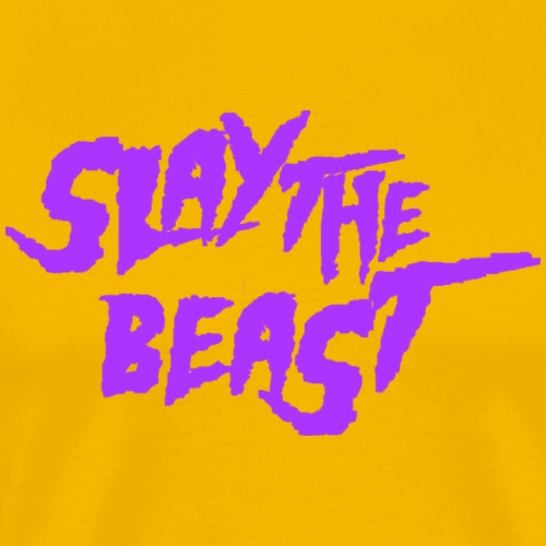SLAY THE BEAST Purple - Men's Premium T-Shirt