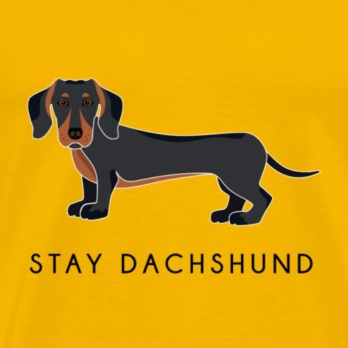 Dachshund Black - Maglietta Premium da uomo