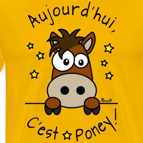 Équitation Cheval Poney Pony Cavalier Cavalière - T-shirt Premium Homme