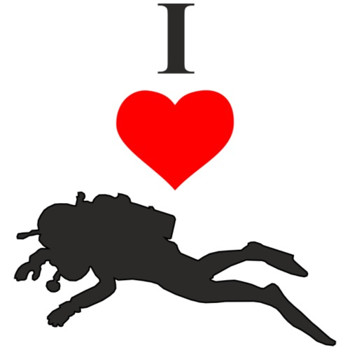 I Love Diving - Männer Premium T-Shirt