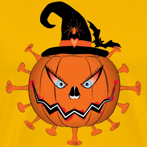 Halloween Pumpkin Coronavirus - T-shirt Premium Homme