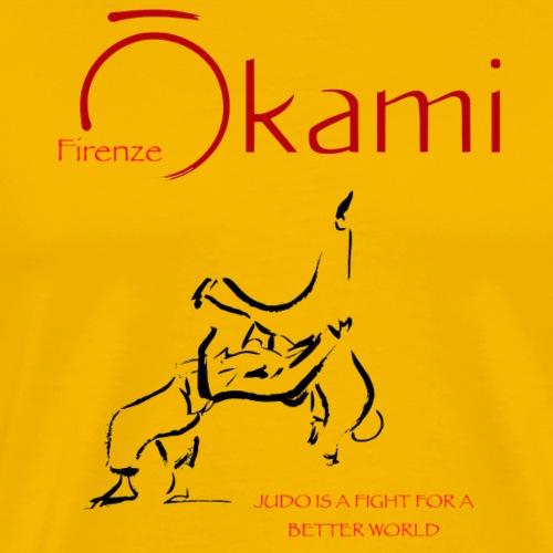 logo asd OKAMI Firenze 2021 - Maglietta Premium da uomo