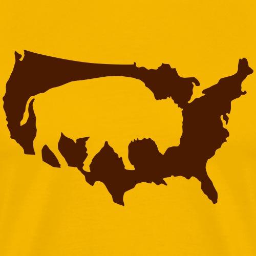 Buffalo Indianer Büffel Amerika Adventure USA - Men's Premium T-Shirt