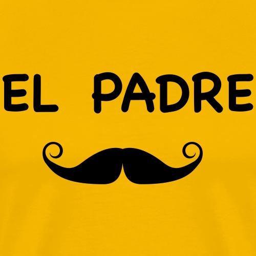 El padre moustache - T-shirt Premium Homme
