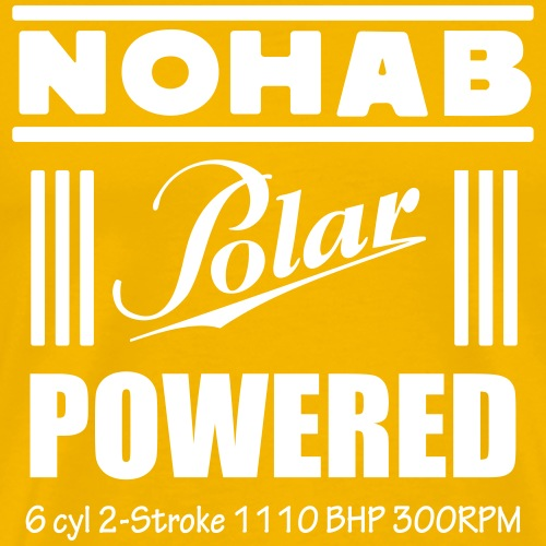 Nohab Polar Powered - Premium T-skjorte for menn