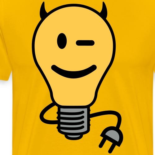 Devil Lightbulb (plug tail) - Men's Premium T-Shirt