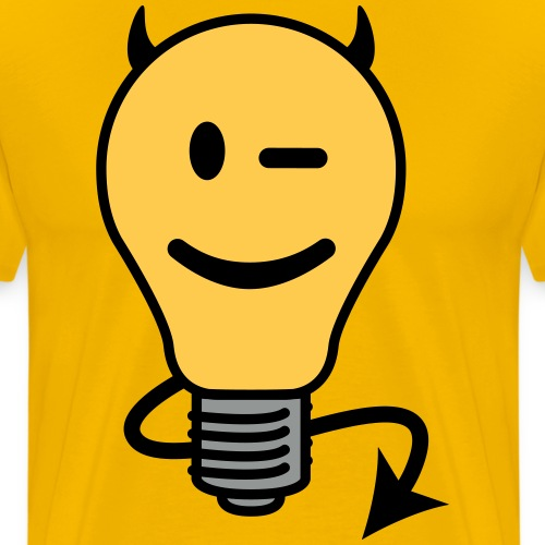 Devil Lightbulb - Men's Premium T-Shirt