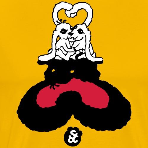 KNÜDDELOHRHÄSCHEN (1) [3 Farben] - Männer Premium T-Shirt