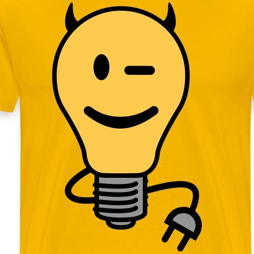 Devil Lightbulb (plug tail) - Men's Premium T-Shirt