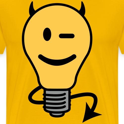 Devil Lightbulb - Men's Premium T-Shirt